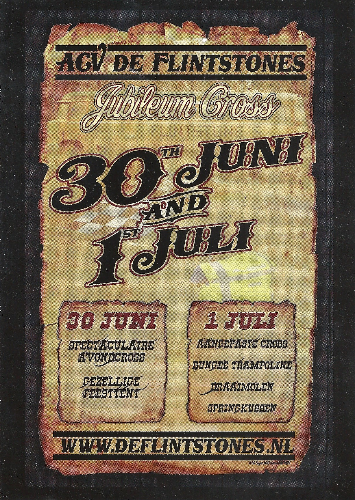 Jublileumcross Biddinghuizen 2017 - flyer